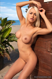Hot Blonde Lena On The Beach