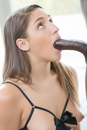 Big Booty Girl Worships Big Black Cock