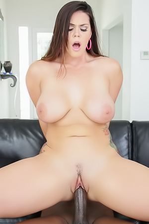 Huge Natural Boobed Bitch Gets Fucked By A Big Black Cock