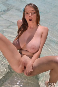 Lucie Wilde Massive Hooters Fall Out Of Her Bikini