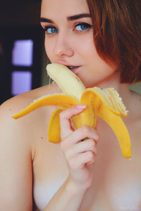Cute Teen Alice Shea Plays With Banana And Pussy