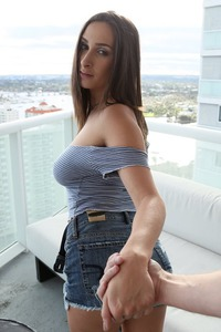 Busty Ashley Adams Gets A Blowjob Workout