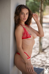 Amazing Erotic Gloria Sol In Hot Red Lingerie
