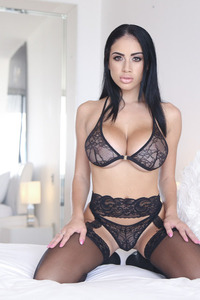 Victoria June With Huge Boobs In Black Lingerie