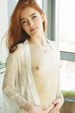 Sexy Russian redhead Jia Lissa exposing her beautiful breasts