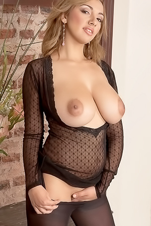 Busty latin beauty