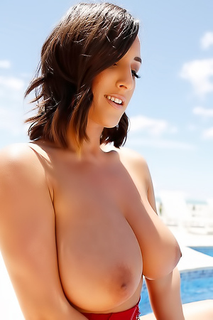 Stacey Poole Teasing With Her Huge Boobs