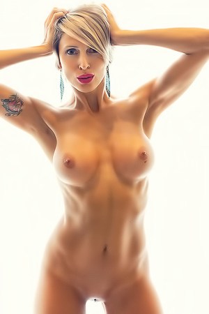 Stunning Blond Tanita Showing Fake Boobs