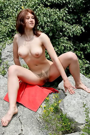 Busty Bush Outdoor