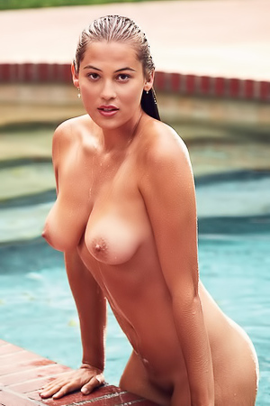 Megan Moore Skinny Dips Nude In The Pool For You