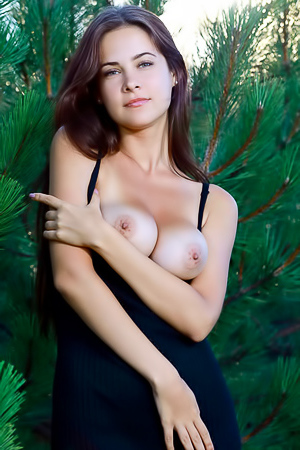 Busty Martina Mink Tripping Outdoors