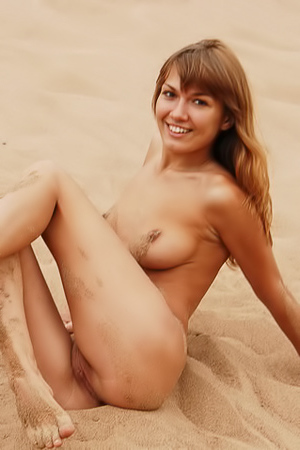 Pussy in the sand
