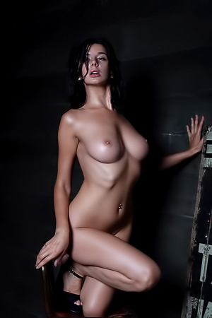 Naked Babe Darina In The Night
