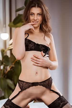 Nora Roam MetArt Debut In Sexy Lingerie And Stockings