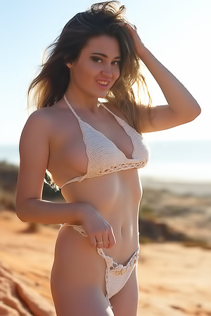 Gabriella Knight Beach Shoot