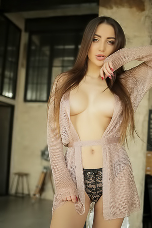 Natasha Forikova loves being topless on the table