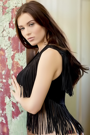 Lana Rhoades in a sexy black dress loves posing for the camera