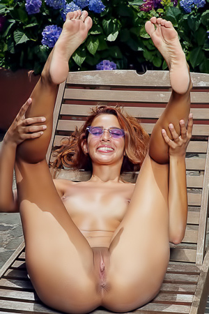 Beautiful Redhead Babe Agatha Vega Having Poolside Fun