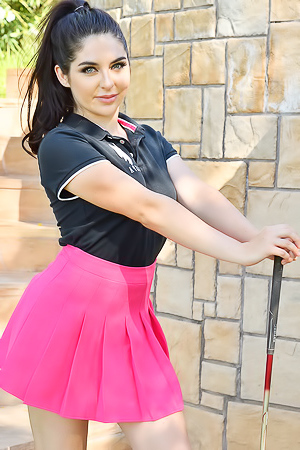 Kiera On The Golf Course