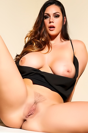 Sexy Alison Tyler In A Black Dress