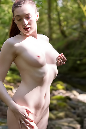 Hot MILF Setina Rose Playing In The Woods