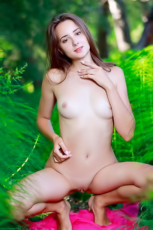 Rosalina Posing Naked Outdoors