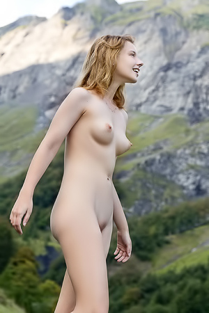 Beautiful Sienna R Stripping Outdoors