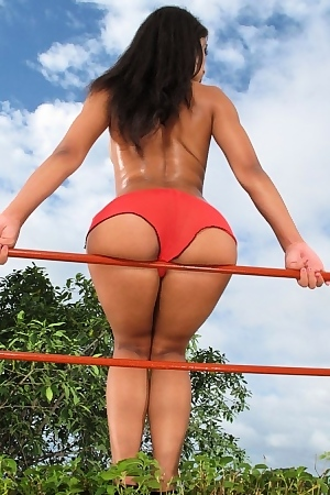 Ria Rodriguez In Red