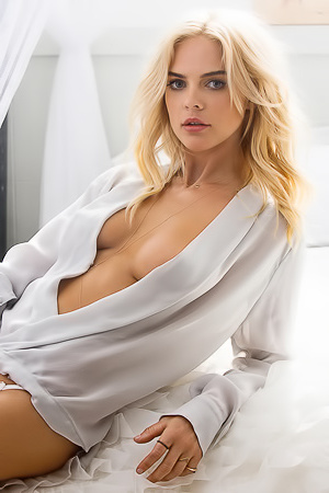 Busty Blonde Rachel Harris Via Playboy