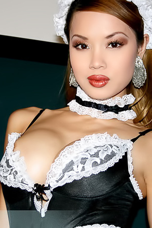 Francine Dee Busty Asian Maid