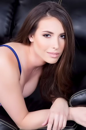 Hot Brunette Casey Calvert Strips Off Her Lingerie