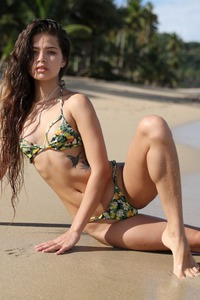 Stunning Model Irene Rouse On Beautiful Beaches
